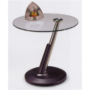 Magnussen 38000 Modesto Metal and Glass Round End Table