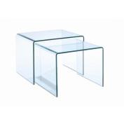 Magnussen T1595 Lumeno Glass Nesting End Table