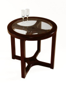 Magnussen T1020 Juniper Wood Round End Table