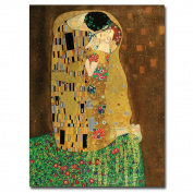 "Trademark Fine Art ""The Kiss"" Canvas Art by Gustav Klimt, 18x24"
