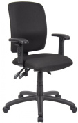 Boss Multi-Function Fabric Desk Chair with Adjustable Arms