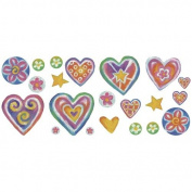 Blue Mountain Wallcoverings Just for Kids Sweet Hearts Self Stick Room Appliqu