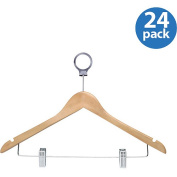 Honey Can Do HNG-01737 Maple Hotel Hangers- with Clip