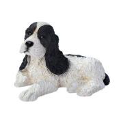 Design Toscano Black and White Cocker Spaniel Puppy Dog Statue, Multicoloured