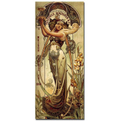 "Trademark Fine Art ""Champagne Theophile Roeder & Co"" Canvas Art by Louis-Theophile Hingre, 14x32"