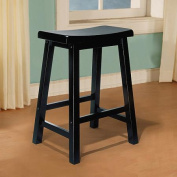 "L Powell ""Antique Black"" with Sand Through Terra Cotta Counter Stool, 60cm Seat Height"