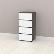 Nexera Allure 3-Drawer Storage Cabinet, White/Ebony