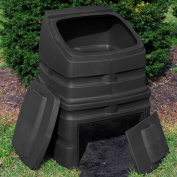 Good Ideas Compost Wizard 340.7l Recycled Plastic Compost Bin - Black