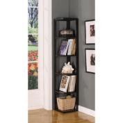 InRoom Designs Five Tier Corner Bookcase