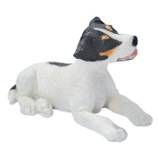 Design Toscano Black and White Jack Russell Puppy Dog Statue, Multicoloured