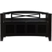 Brossard Storage Bench, Black