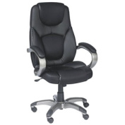 Z-Line Designs Black Leather with Mesh Fabric Accents Executive Chair