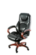 Z-Line Designs Designs Black Executive Chair with Wood Toned Base