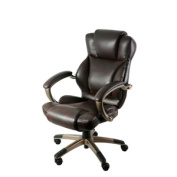Z-Line Designs Black Executive Chair with Champagne Finished Base