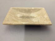 EVCO International 32358 Champagne Marble Column Soap Dish