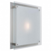 Access Lighting 50032-BS-FST Vision 2 Light Wall Fixture or Flush-Mount - Brushed Steel
