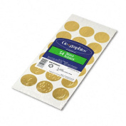 Geographics 45204 Self-Adhesive Embossed Seals Gold 54 Pack