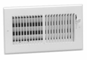Hart Cooley American Metal 8in. X 4in. White Steel Wall Diffusers .33in. Grille Bar 3