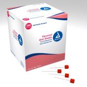 Dynarex 1217 Flavoured Oral Swabsticks with Dentrifice - 4/250/Case