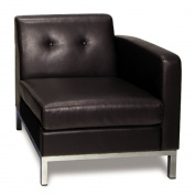Avenue Six 211028 Wallstreet Single Armed Chair RAF - Espresso Faux Leather