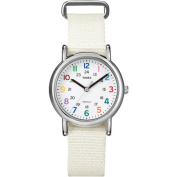 Timex Women's Weekender Watch, White Nylon Strap