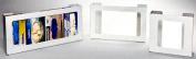 Horizon Manufacturing 5104-W 2-Box Horizontal Plastic Box Glove Dispenser - White Heavy- Duty Plastic