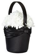 Lillian Rose FB613 BK Satin Flower Basket-Black