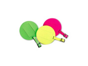 Lewis N Clark ID21YELHT Large Round Neon Luggage Tag With Closed Security Flap - Yellow