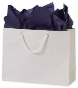 Bags & Bows by Deluxe 244M-130510-9M White Matte Laminated Euro-Shoppers - Case of 100
