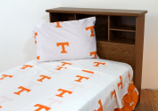 College Covers TENSSTWW Tennessee Printed Sheet Set Twin- White