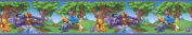 Blue Mountain Wallcoverings DS026295 Pooh Border 5 in. Self-Stick - Forest