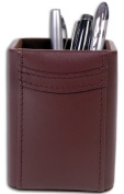 Dacasso A3410 Chocolate Brown Leather Pencil Cup
