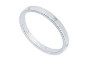 FineJewelryVault UBVCF200PTD-120 2MM Comfort Fit Flat Wedding Band with Diamonds : Platinum - 0.05 CT TDW - Size