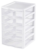 Sterilite 5 Drawer Clear View Storage Unit 20758004 - Pack of 4