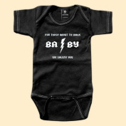 Rebel Ink Baby 307bo1218 For Those About to Walk- 12-18 Month Black One Piece Undershirt