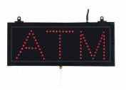 Aarco Products Inc. ATM10S High Visibility LED ATM Sign 6 .190.5cm .Hx16 .33cm .W