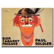 """Trademark Fine Art 60cm x 80cm """"Bier Cabaret Passage Paul Golder"""" by J Steiner"""