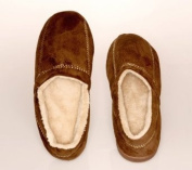 Living Healthy Products MSFS-004-1112 Large 11-12 Suede Fleece Mens Slipper in Brown