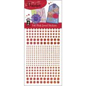Hot Off The Press DAZ-1558 Dazzles Stickers -540 Pink Jewel