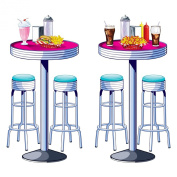 Soda Shop Tables & Stools Props Party Accessory (1 count)
