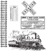 Stampers Anonymous CMS-127 Tim Holtz Cling Rubber Stamp Set-On The Railroad