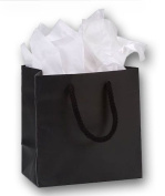 Bags & Bows by Deluxe 244M-060306-12M Black Matte Laminated Euro-Shoppers - Case of 200