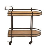 Woodland Import 56145 Tea Cart with Versatile and Functional Design