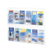Safco 5671CL - Clear2c 12 Pamphlet Display - Clear