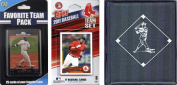 C & I Collectables 2011REDSOXTSC MLB Boston Red Sox Licenced 2011 Topps Team Set and Favourite Player Trading Cards Plus Storage Album