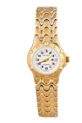 Del Mar 50224 Womens 5 Microns Classic Dress Nautical Dial Watch