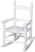 Giftmark 3200W Childs Double Slat Back Rocking Chair White