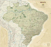 National Geographic Maps RE01020613 Brazil Executive Wall Map - Laminated