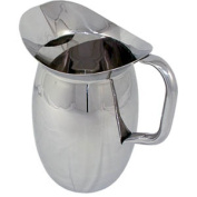 Update International BP-3G Stainless Steel Bell Pitcher with Ice Guard, Round, Lustrous, 2840ml