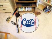 Fanmats 3322 COL - 70cm . diameter - Montana State University Baseball Mat